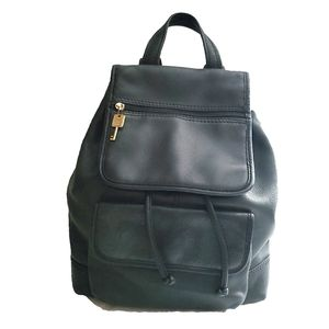 Fossil American Classic Black Leather Backpack Bag